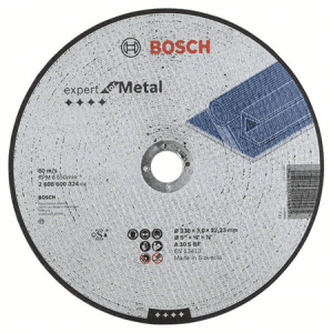 Disco corte metal 9 x 1/8 x 7/8 (230 x 3 x 22.23mm) Expert