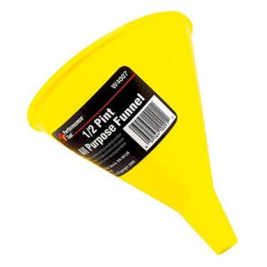 Enbudo amarillo 1/2 para aceite