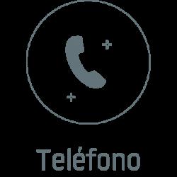Teléfono icono gris