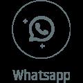 Whatsapp icono gris